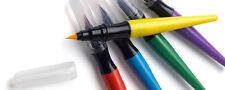 6 x Cepillo de Pintura Marcadores Rojo/Amarillo/Verde/Azul Fieltro Punta Plumas De Dibujo Para Colorear
