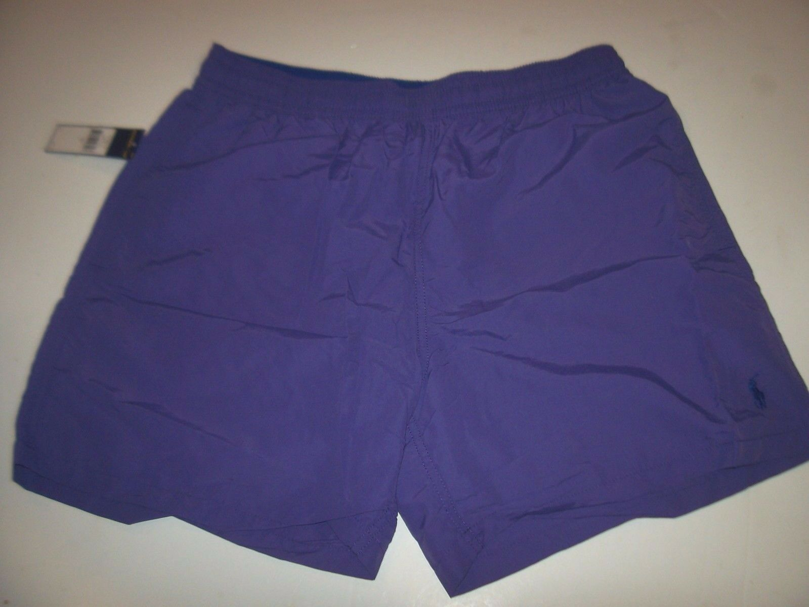 New Polo Ralph Lauren purple bluee logo swimsuit shorts swim trunks large or XL