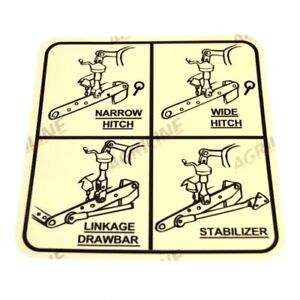 LINKAGE SETTING DECAL FOR DAVID BROWN 770 780 880 885 990 995 996 TRACTORS.