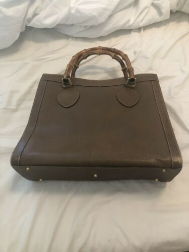 Authentic Gucci Vintage Brown Princess Diana Bambo