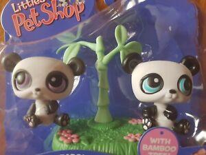 Littless-pet-shop-ORIGINAL-2005-NEW-in-box-PANDAS-bamboo-tree-LPS-89-90-Gen2