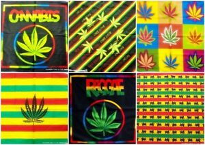 20 inches Marijuana Cannabis Leaf Box Head Wrap Dusk Mark Bandana Scarf Handkerchief