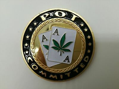 Pot Committed Pocket Aces Poker Card Guard Hand Protector US Seller Fast Ship