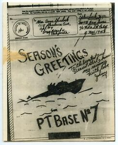 SAMOA-V-mail-Airgraph-1943-SEASONS-GREETINGS-PTBASE-No7-Tutuila-Samoa
