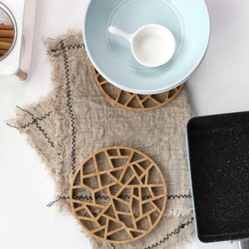 Table Round Coaster Heat Resistant Cup Pot Bowl Mat Kitchen Decor JH