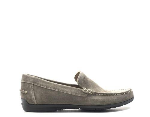 Chaussures GEOX Homme Mocassini  GRIGIO en daim U32Q3A-00022-C6029T