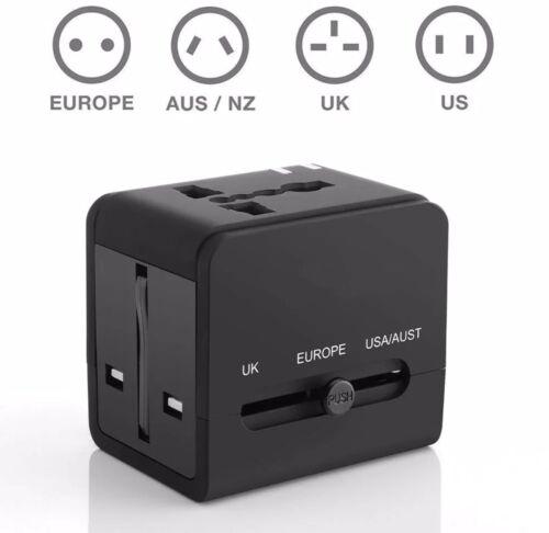 Worldwide Travel AdapterUniversal Charger Plug Adapter2 x USB Smart Charge