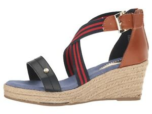 dfcc98a7d139b6 Image is loading Tommy-Hilfiger-Kids-Anastasia-Stripe-K-Wedge-Sandal-