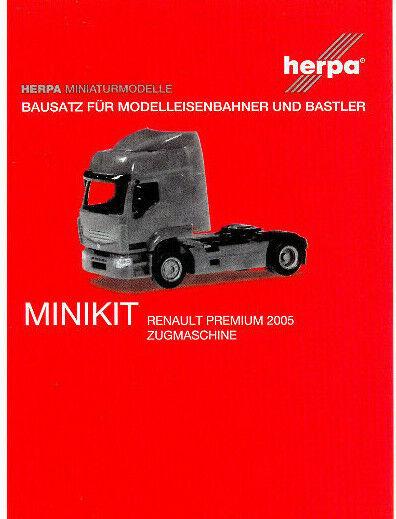 Herpa Minikit 013635-1//87 Renault Premium Zugmaschine weiß Neu