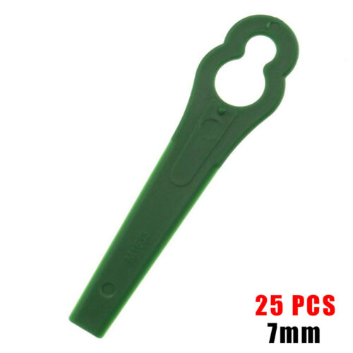 25//100 Plastic Grass Trimmer Blades Mower Replacement Trim Fast Switchblades Set