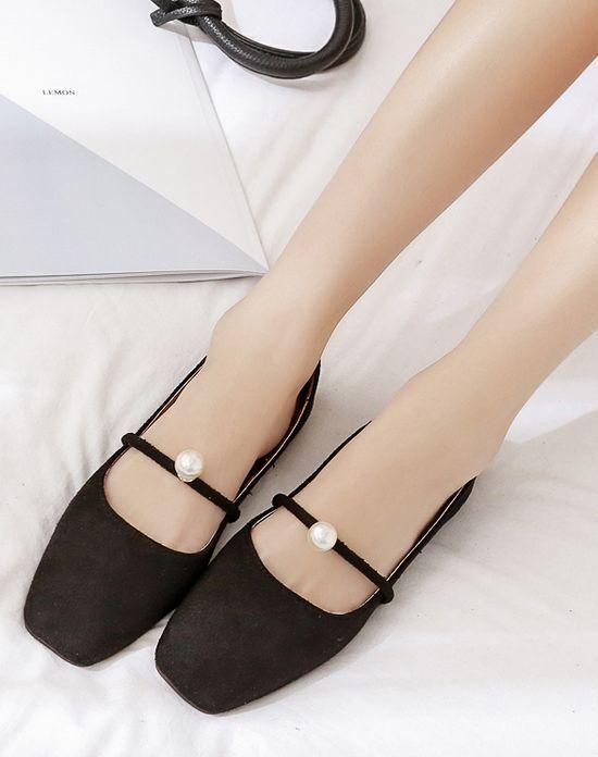 Ballerine mocassini chaussures basse noir scamosciate simil pelle comode CW991