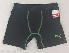 Puma MENS Athletic Boxer Brief Black Green Size L
