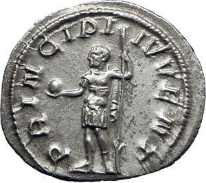 PHILIP-II-Roman-Caesar-with-globe-244AD-Silver-Rare-Ancient-Roman-Coin-i70116