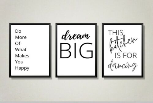 Kitchen Minimalist Wall Art Poster Prints Quality Home Picture Funny Quotes