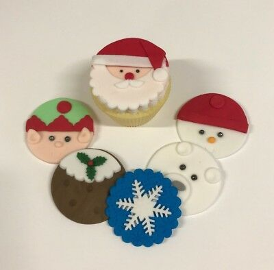 Edible Christmas 2 snowmen Cake Topper Decoration