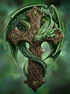 Full-drill-Diamond-Painting-Dragon-Green-Pterosaurs-DIY-Fashion-Handicraft-7339