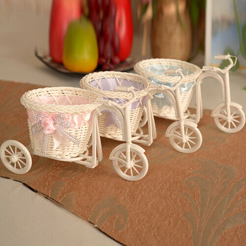 LN/_ KQ/_ Tricycle Bike Flower Basket Plant Stand Home Wedding Decoration Photog