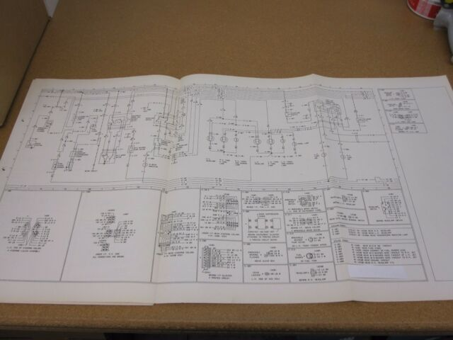Original 1974 Ford Pinto Wiring Diagram Sheet Schematics
