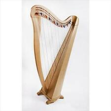 EMS Heritage 34 String Celtic Harp, Semitone Levers Natural Beech Finish **NEW**