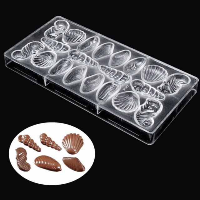 Hippocampus Scallop Sea Shell Maker Inject Hard Polycarbonate PC Chocolate Mold