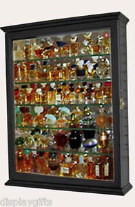 Small Miniature Perfume Bottle Display Case Shadow Box