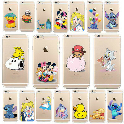 Ultra Thin Fashion Pattern Transparent Soft Phone Case Cover For Iphone5S 5C 6 4