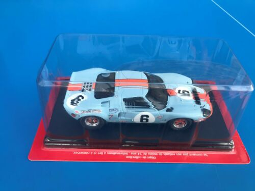 24H 24 Heures Du Mans Test N°3 HACHETTE Collection 1//24 FORD GT 40 MK1 1969 Rare