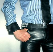 Manchetten Börse Ledermanchetten Leder cuffs leather black wallet purse gay