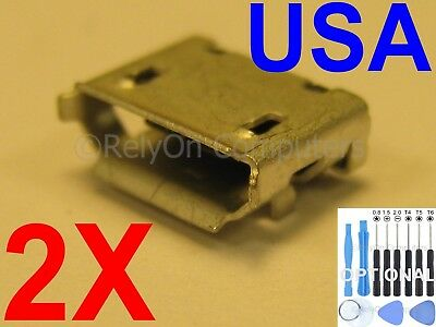 2 Micro USB Charging Port Charger Connector for JBL Flip 4 Bluetooth Speaker USA
