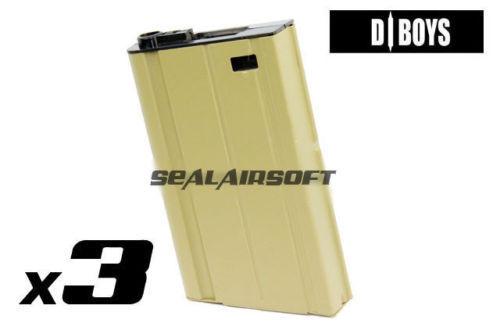 D-BOYS 360rd HI-CAP Airsfot Toy Magazine For SCAR-H Gen III (SC02) AEG TAN 3PCS