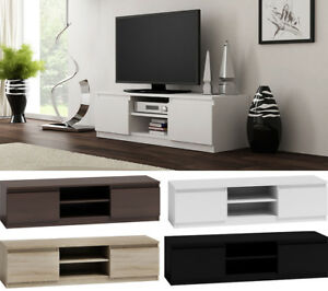tv schrank lowboard tv m bel fernseher schrank fernsehtisch 4 farben 120 140cm ebay. Black Bedroom Furniture Sets. Home Design Ideas