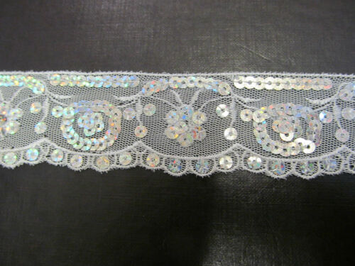 Sequined Metallic Lace /& Coin Craft Collection Trimming