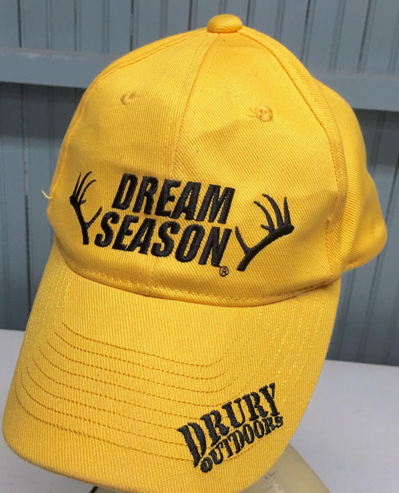 Drury Outdoors Dream Season Hunting Yelloe Strapback Baseball Cap Cap Baseball Hat 1caa9d