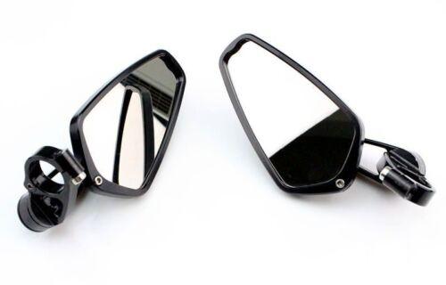 "Black 7//8/"" 22mm Black Handle Bar Bar End Rearview Mirror"