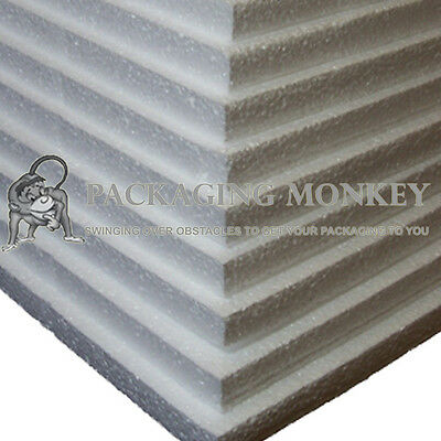 EXPANDED POLYSTYRENE FOAM PACKING SHEETS *ALL SIZES*