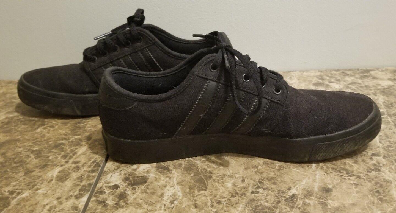 Men's Adidas Black Shoes Size 6