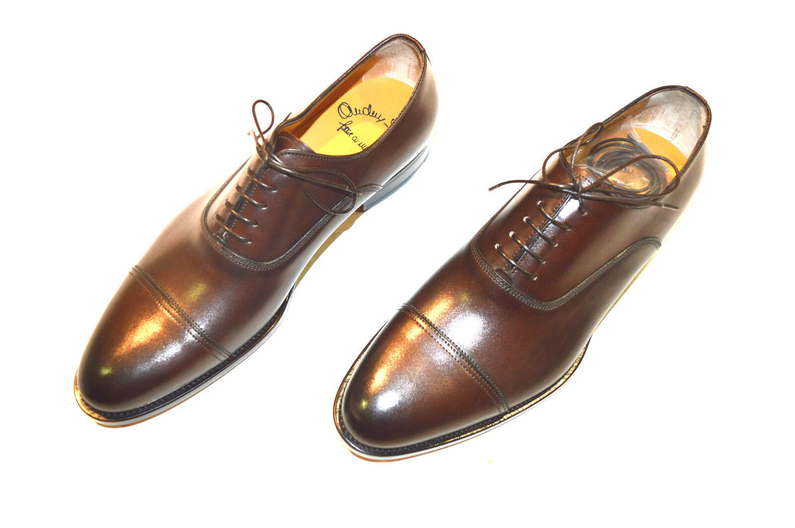 NEW SANTONI SANTONI SANTONI Dress Brown Pelle Shoes  SIZE Eu 41.5 Uk 7.5 Us 8.5 (9R) a80dae