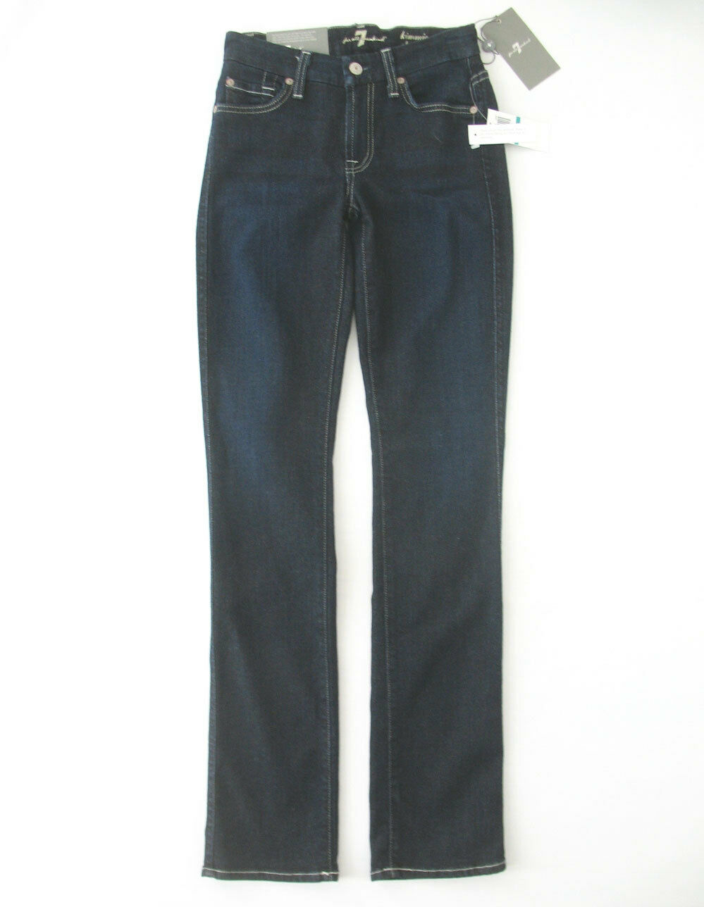 7 For All Mankind Kimmie Gerades Bein Jeans Wüste Nite 24 9445 Bm12