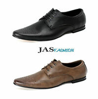 Mens JAS Smart Lace Up Office Wedding Italian Shoes Dress Work Formal Size UK