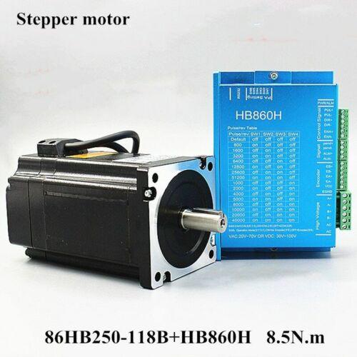 34 Servo Motor 86HB250-118B+HB860H Closed-loop Step 8.5N.m Nema 86 2-phase Step