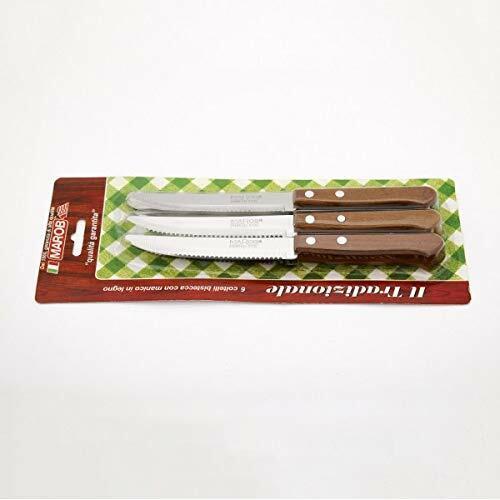 Coltelli bistecca conf.6 pz. man. legno