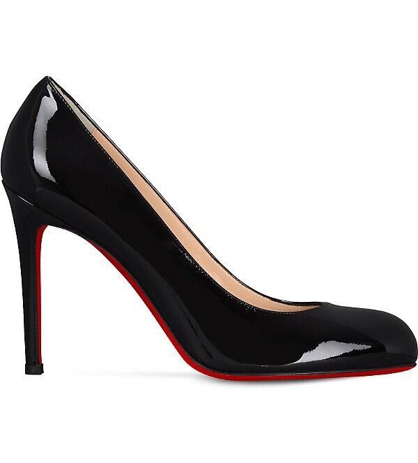 Christian Louboutin Simple Pump 100 Patent Heels Black Courts Uk 5.5 Eu 38.5 5020414875990