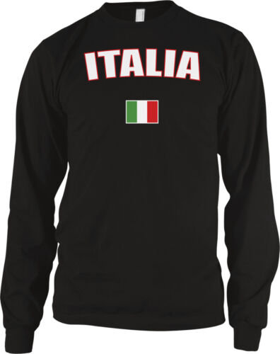 Italy Italia Rome European Country Pride Heritage Flag Long Sleeve Thermal