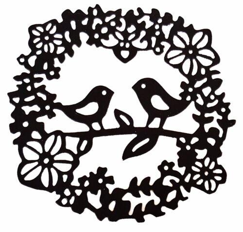 Bird /& Flower Wreath cutting stencil set fancy die Elegant scrapbook