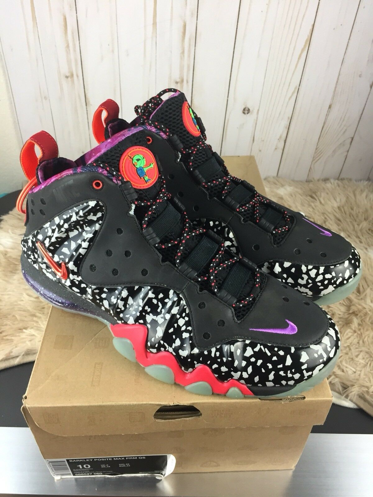 NIKE BARKLEY POSITE MAX QS  ASG ALL STAR AREA 72 Galaxy RAYGUN  588527-060 Price reduction The latest discount shoes for men and women