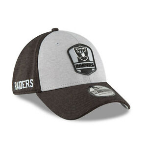 NEW ERA MENS 39THIRTY BASEBALL CAP.NEW OAKLAND RAIDERS NFL SIDELINE ... 231b90bd0