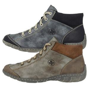 Das Bild wird geladen Rieker-Serbia-Schuhe-Women-Damen -Antistress-Schnuerschuhe-Freizeit- b89996febb