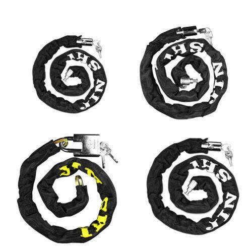 New 1m Chain Lock Heavy Duty Bike Motorbike Motorcycle Chain Pad Lock Security