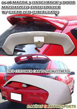 MS-Style Rear Roof Spoiler Wing (Fiberglass) Fits 04-09 Mazda 3 Hatch 5dr
