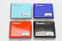 VW SAMBA Zigaretten Etu in Geschenkbox edel -  Volkswagen T1 T2  Bulli HELLBLAU